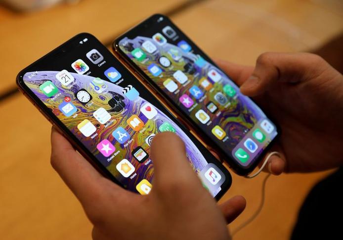 De iPhones XS en XS Max werden vorig jaar in september voorgesteld.