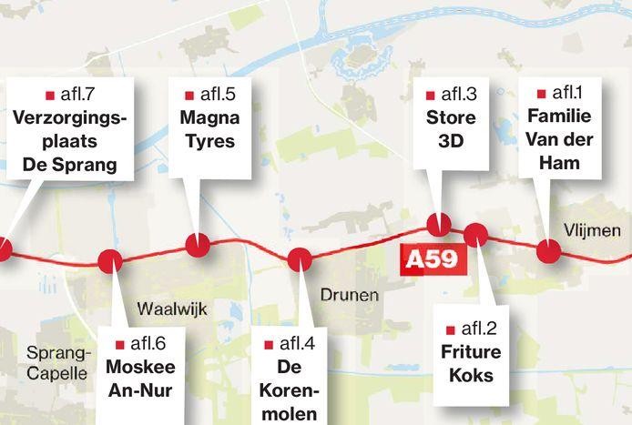 In een zomerserie doen we zeven markante plekken aan langs de A59. Dit is deel 3. Volgende week: De Korenmolen.