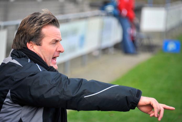 Archieffoto van Wim Wouterse toen hij nog de Nijmeegse voetbalclub SCH trainde.
