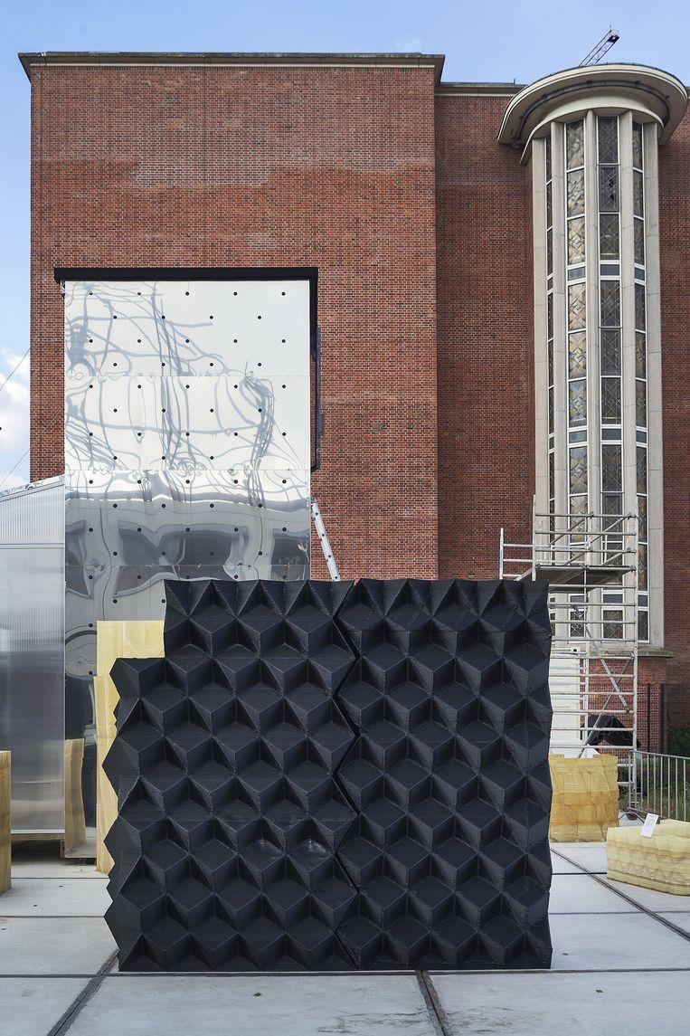 3D Print Canal House project. Met een 3d printer en lijm wordt in Amsterdam Noord een huis geprint. Beeld Olivier Middendorp