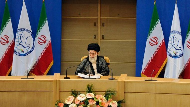 De hoogste leider van Iran, ayatollah Ali Khamenei Beeld EPA