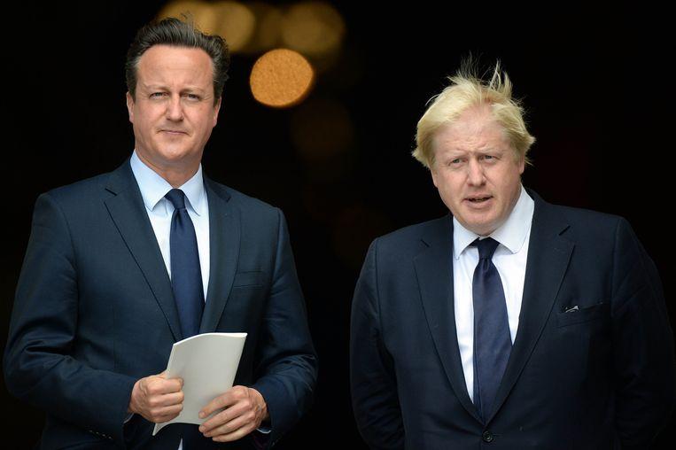 David Cameron en Boris Johnson