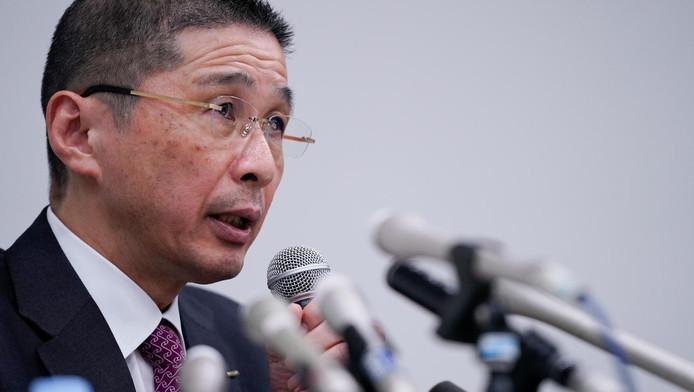 Volgens de bronnen moest Nissan-topman Hiroto Saikawa -foto- de Japanse autoriteiten bijstaan in het onderzoek naar oud-voorzitter Ghosn.