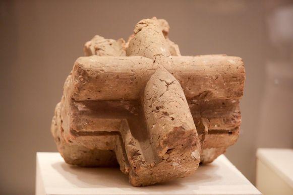 Een voorbeeld van een gebakken steen in klei