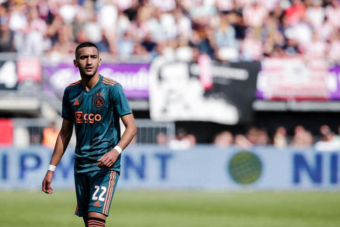 Hakim Ziyech tijdens Sparta - Ajax.
