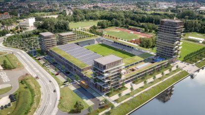 """Torenhoge ambities bij kersverse profclub KMSK Deinze: """"Dakota-arena krijgt naast extra tribunes, flats en hotel ook skybar en concertzaal"""""""