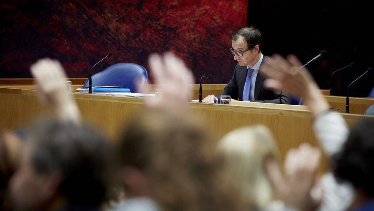 Een stemming in de Tweede Kamer. Beeld anp