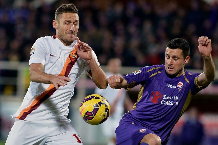 Francesco Totti (links). Beeld afp