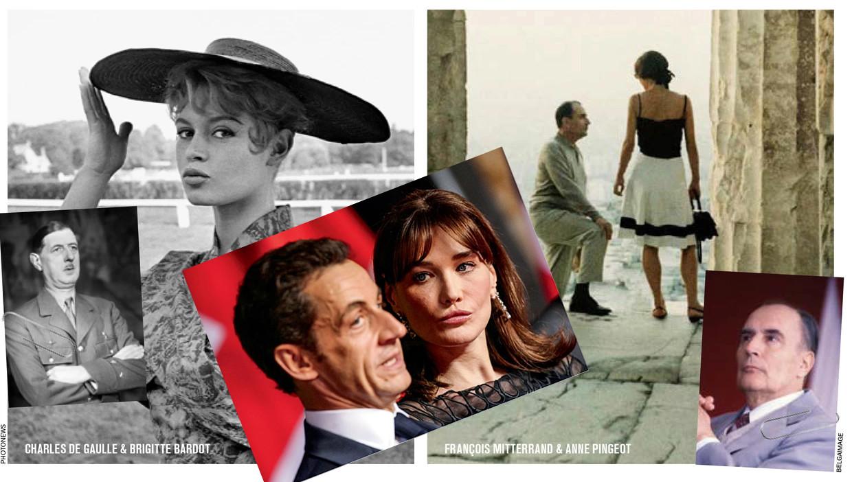 Franse presidenten en hun vrouw Beeld Humo