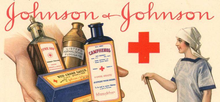 Een reclamecampagne van Johnson & Johnson. Beeld