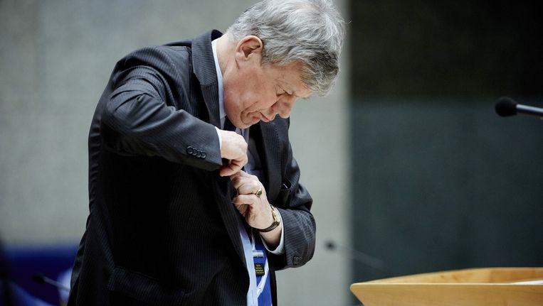 Minister Opstelten ontweek de regels en betaalde een consultant een salaris dat drie keer de Balkenende-norm bedroeg. Maar liefst 1,3 miljoen, blijkt uit stukken in handen van NRC Handelsblad. Beeld anp