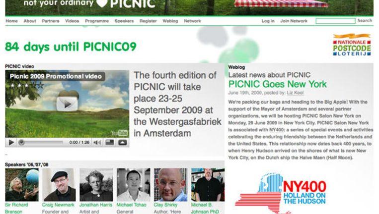 De website van Picnic. Foto www.picnicnetwork.org Beeld