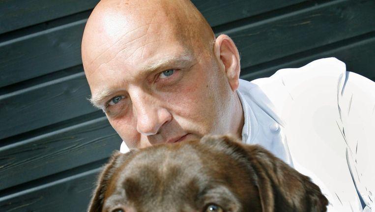 De Nederlandse chef-kok Herman den Blijker, presentator van Herrie in de Keuken Beeld null