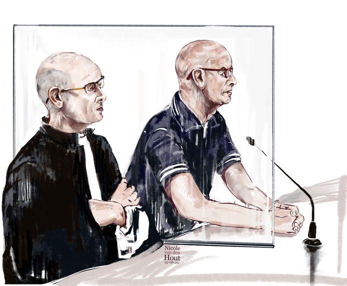 Bart B. naast zijn advocaat.