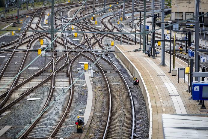 Spoorwissels bij Utrecht Centraal.