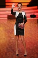 Sylvie tijdens de presentatie van Let's Dance afgelopen vrijdag.