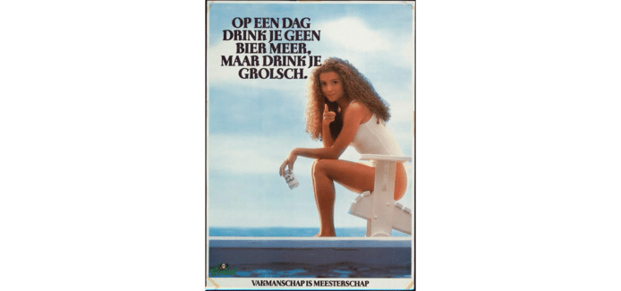 De reclameposter met het meisje in het witte badpak was in die tijd de meest gestolen reclameposter uit bushokjes.