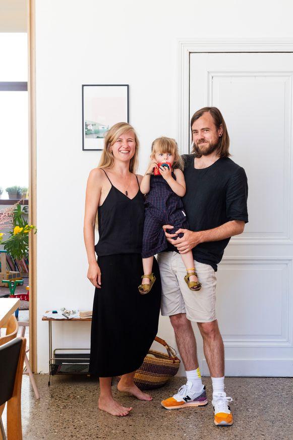 Gwenn, Rob en hun dochter Fiep.