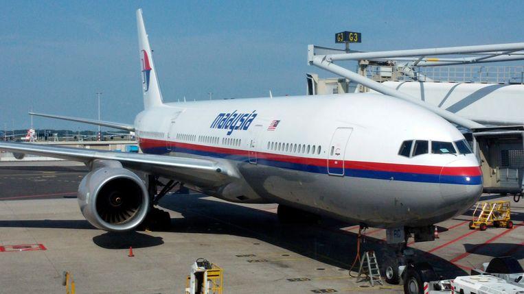 Een Boeing 777 van Malaysia Airlines. Het was een vliegtuig van dit type dat gisteren neerstortte in Oekraïne. Bij de crash kwamen alle 298 inzittenden om.