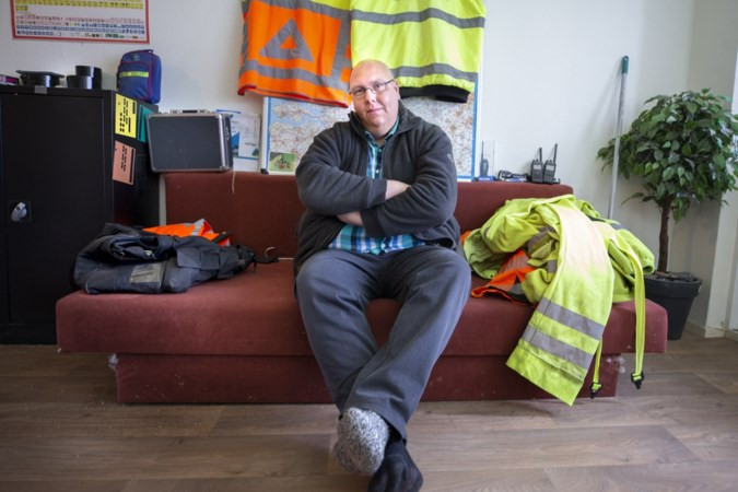 Jim van Kooten zit thuis met een gekneusde voet.