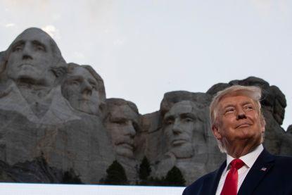 """""""Trump wil zijn beeltenis op Mount Rushmore"""""""