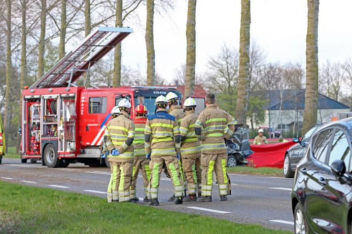 Bij het ongeluk in Espel kwam een man om het leven.