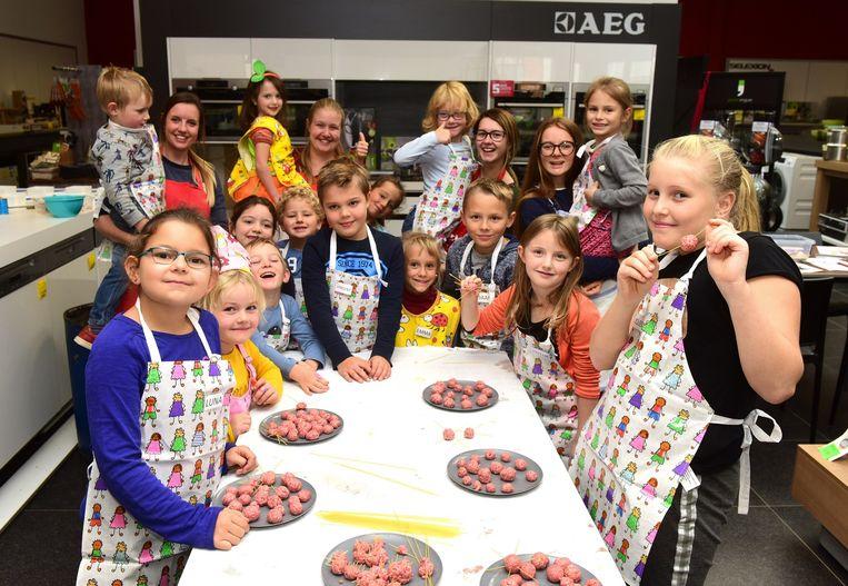Kinderen maakten tal van gerechtjes klaar