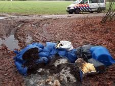 Meerdere afvalzakken met hennepafval gedumpt in Veldhoven