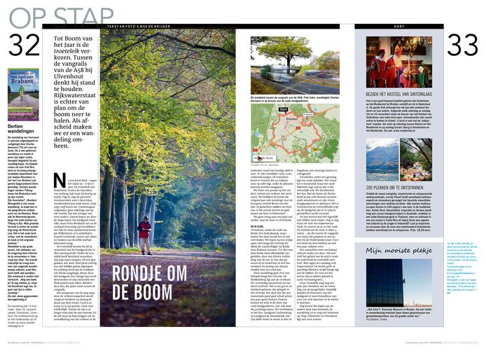 Het artikel van Max de Krijger over de troetelboom in de A58 bij het Brabantse Ulvenhout.