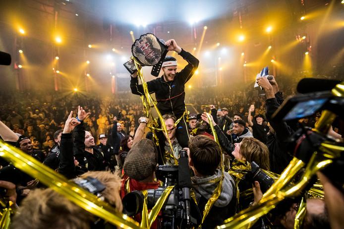 Menno van Gorp is de winnaar van het WK Breakdancen.