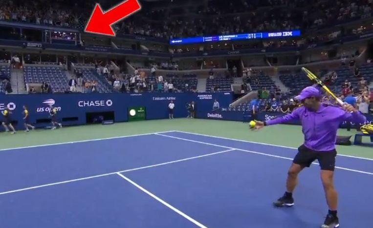 Nadal mept in de commentaarcabine.