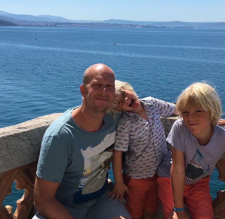 Carl Plasschaert en zijn zonen Jules en Max.
