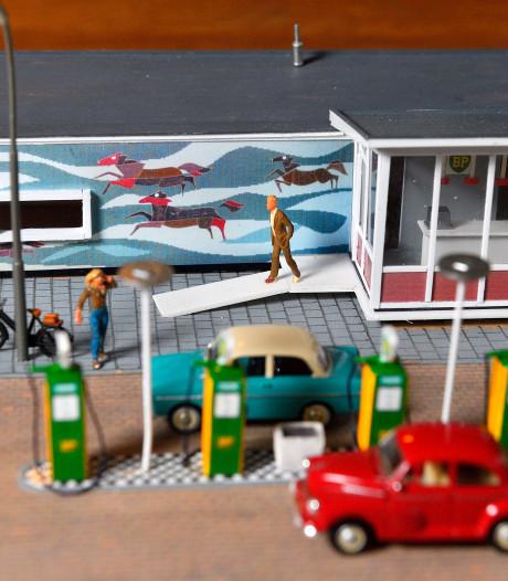 Peter (63) bouwt markant Amersfoorts tankstation in miniatuur na