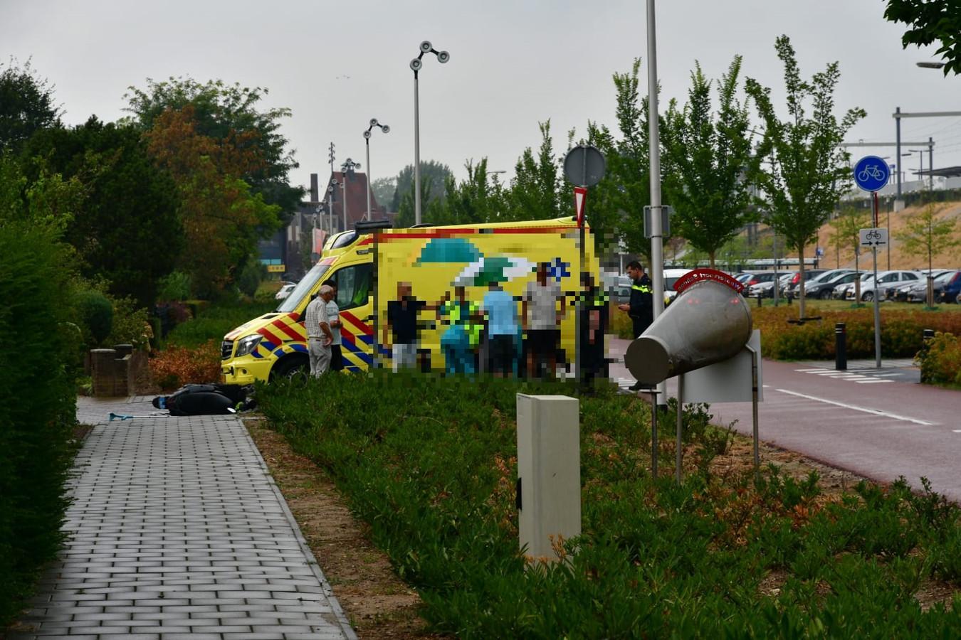 Ambulance ter plaatse.