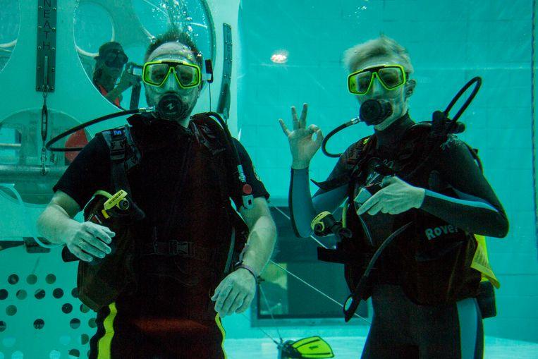 Raf Van Brussel en Rani De Coninck, onderwateruitzending, JOE, Tournee Minerale
