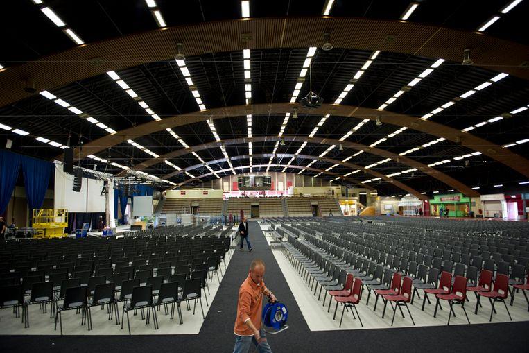 Nu nog rustig, maar het CDA wacht zaterdag een spannend, historisch partijcongres in de Arnhemse Rijnhal. (ANP) Beeld