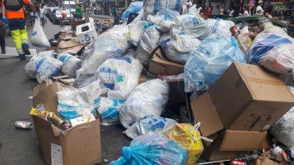 Naamsepoort, een grote afvalhoop door werken