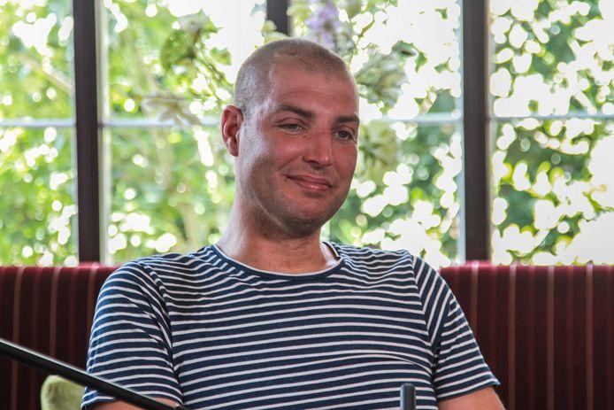 Maarten van der Weijden tijdens een interview dinsdagmiddag