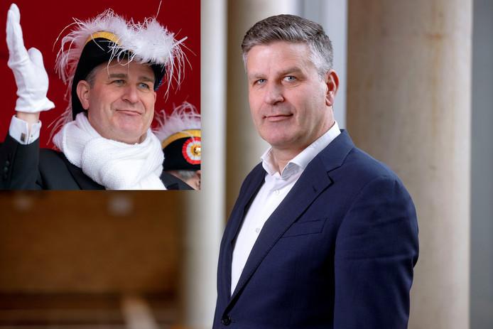 Koen Becking, voorzitter College van Bestuur van de Universiteit Tilburg, staat als prins Amadeiro XXVI voor zijn tweede carnaval in Oeteldonk.