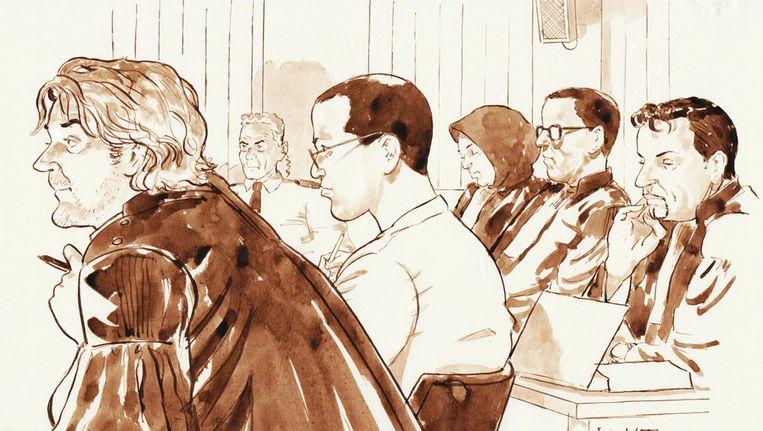 Proces tegen de Hofstadgroep. Beeld ANP