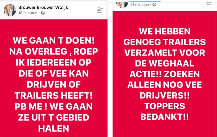 Op Facebook kondigde Maacha Vrolijk haar actie aan.