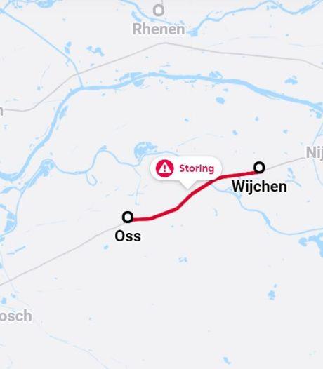 Tot einde middag geen treinen tussen Oss en Wijchen