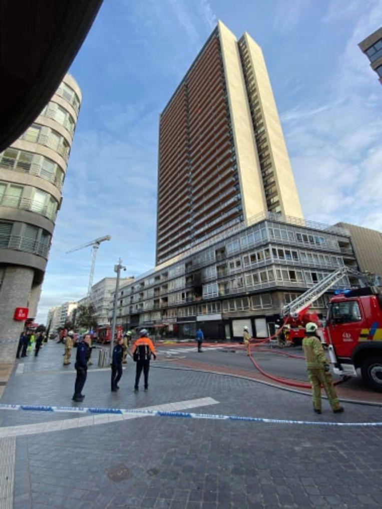 De brand woedde op de tweede verdieping van het Europacentrum.