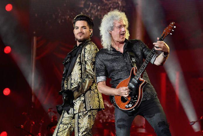 Adam Lambert en Brian May van Queen