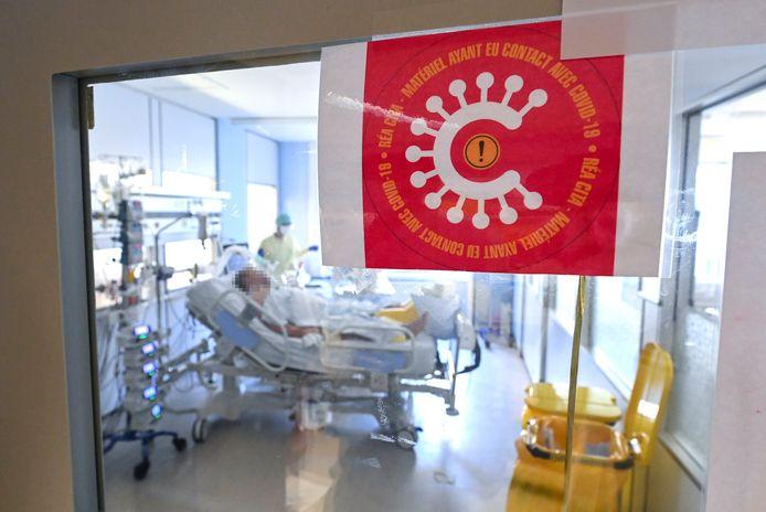 De covid-afdeling van het Luikse Citadelle-ziekenhuis. Jongste broer Fabien (55) overleed in dit ziekenhuis. (archieffoto)