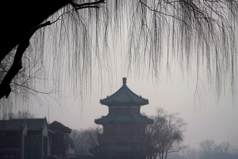 Smog in Peking, eind december. Beeld REUTERS