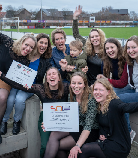 Waterpolosters Thetis winnen prijs