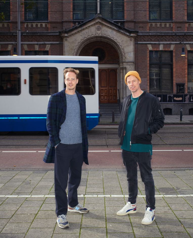 Jan-Willem van de Ven (links) en Meindert Kennis, directeuren van Amsterdam Dance Event. Beeld Daniel Cohen