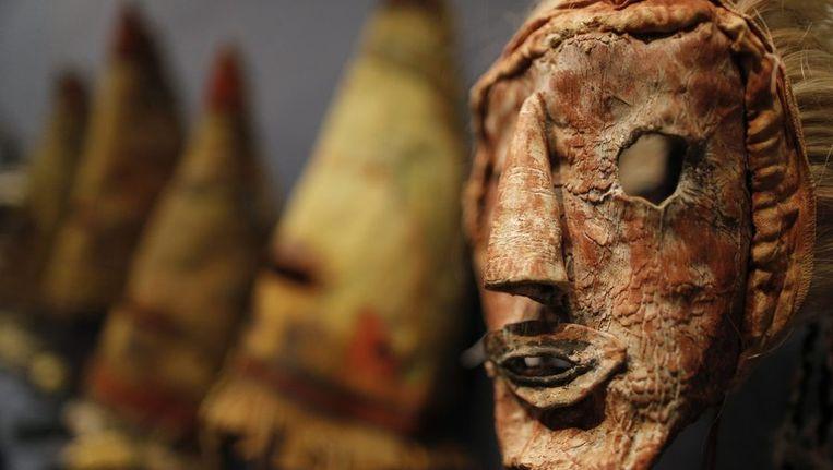 Kachina Hapota, een van de maandag geveilde maskers, gedateerd 1910-1920. Beeld reuters