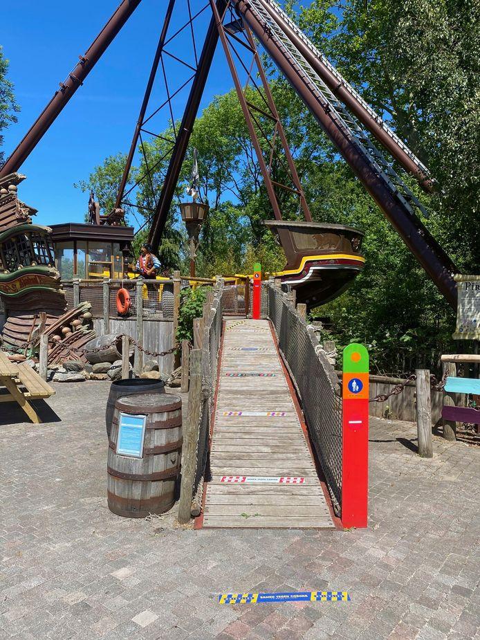 Coronamaatregelen in familiepark Drievliet